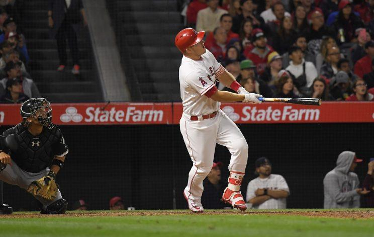 Mike Trout continues to do amazing things at the plate. (AP Photo)