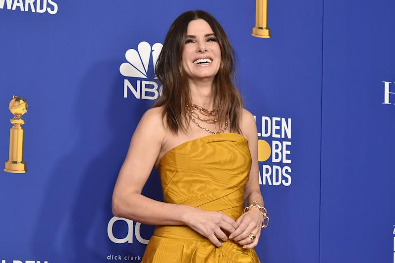 BEVERLY HILLS, CALIFORNIA - JANUARY 05: Sandra Bullock attends The 77th Golden Globes Awards - Press Room at The Beverly Hilton Hotel on January 05, 2020 in Beverly Hills, California. (Photo by David Crotty/Patrick McMullan via Getty Images)