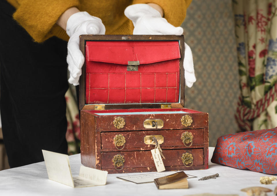 The keepsake box which once belonged to the daughters of scientist Charles Darwin (English Heritage)