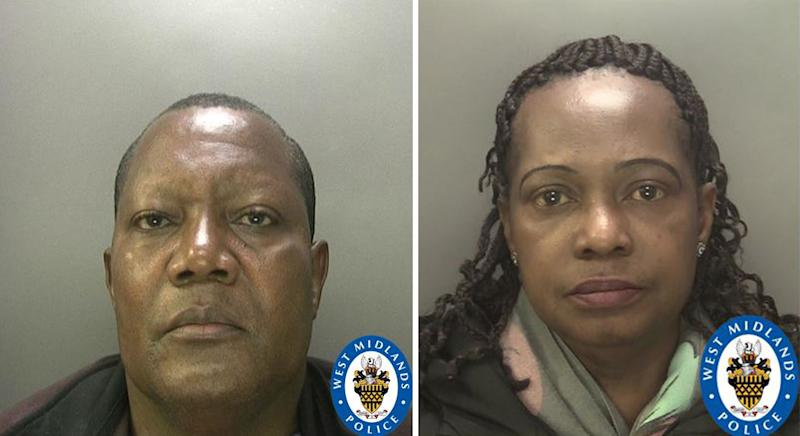 Michael Oluronbi, left, and wife Juliana, right. (PA Images/West Midlands Police)