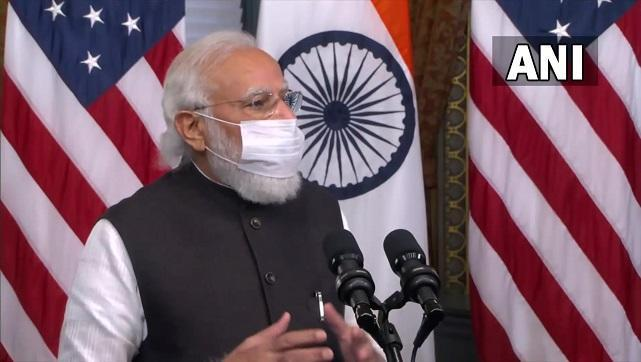 """Modi noted that he had the opportunity to speak to Harris after she assumed the Vice Presidency. """"One of our interactions happened when India was battling a very tough wave of COVID-19 infections. I recall your kind words of solidarity that time,"""" Modi said. He also thanked the US for its help during the second wave of COVID-19. ANI"""
