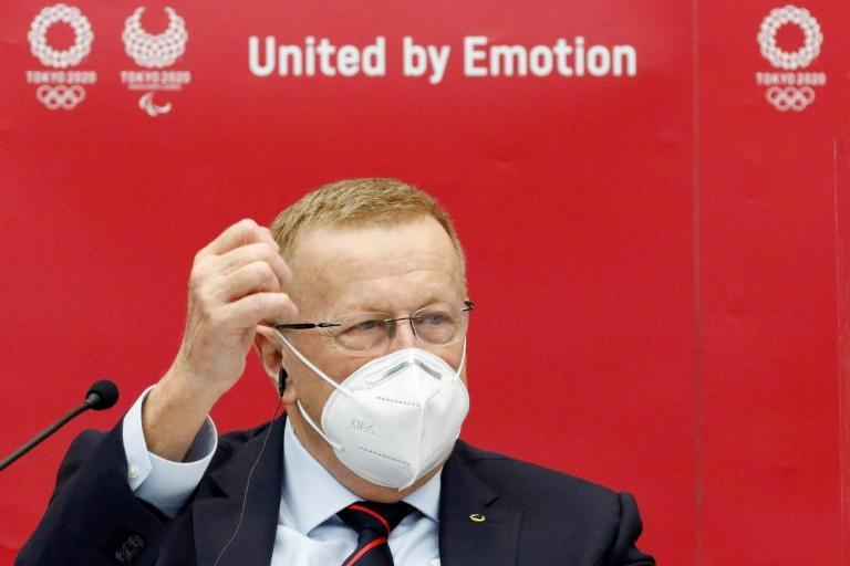 IOC vice-president John Coates, seen here in November 2020, will be in quarantine for three days after arriving in Japan