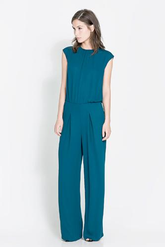 """<div class=""""caption-credit""""> Photo by: Zara</div><div class=""""caption-title""""></div><b>Zara</b> Open-Back Jumpsuit, $99.90, available at <a rel=""""nofollow"""" href=""""http://www.refinery29.com/rompers"""" target=""""_blank"""">Zara</a>"""