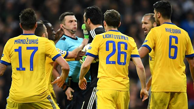 The man at the helm of European football has refused to condemn the behaviour of the Juventus goalkeeper during a Champions League quarter-final clash