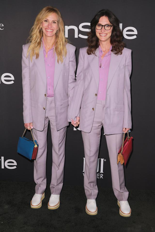 <p>Roberts arrived in matching Givenchy alongside her stylist, Elizabeth Stewart. Both women were presented with awards for their contributions to style. </p>