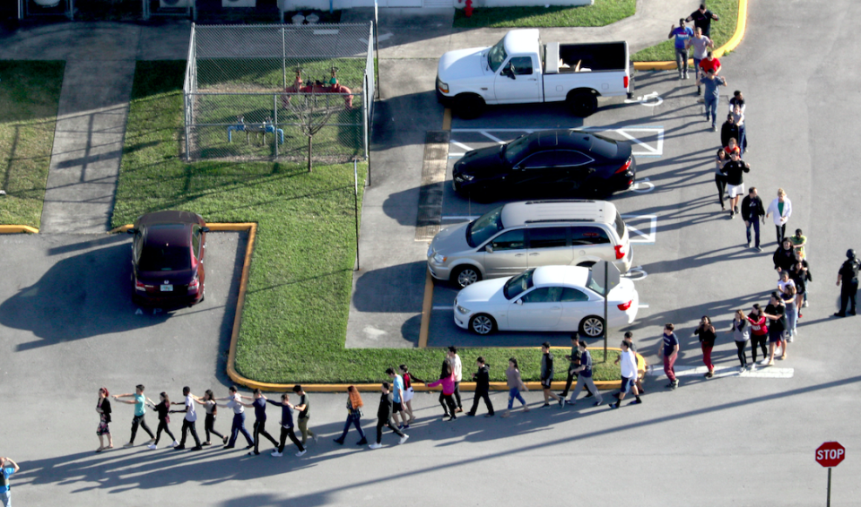 <em>The shooting at the Florida school resulted in the deaths of 17 people (Rex)</em>