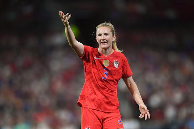 Samantha Mewis has more than made her case for playing time as a jack-of-all-trades midfielder. (Getty)