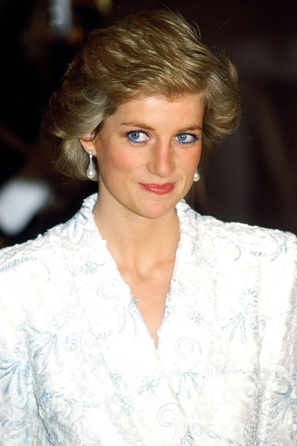 <p>Attending a dinner at the Chateau De Chambord during her official visit to France. </p>