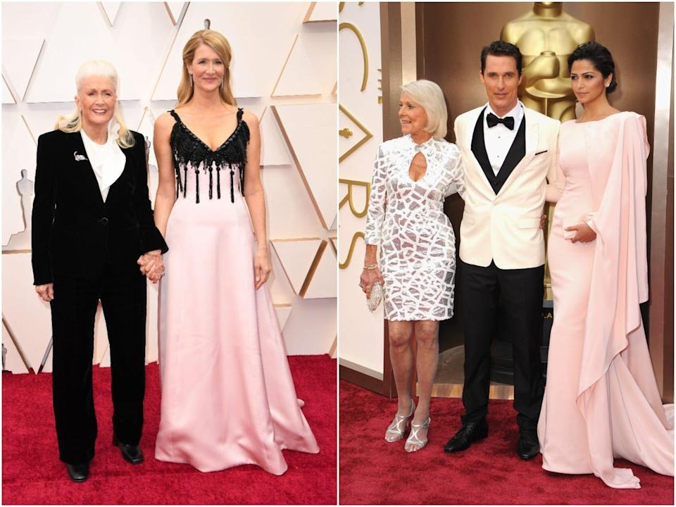 Laura Dern and Matthew McConaughey have both brought their mothers to the Oscars.