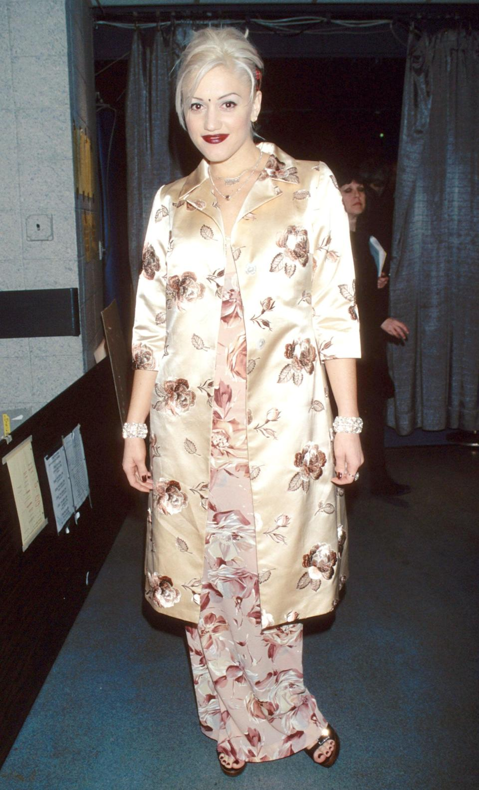 <p>In New York in 1997 wearing a floral dress and silk jacket on top.</p>