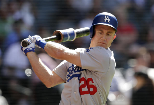 "Sunday will be another Father's Day for <a class=""link rapid-noclick-resp"" href=""/mlb/teams/lad"" data-ylk=""slk:Dodgers"">Dodgers</a> second baseman <a class=""link rapid-noclick-resp"" href=""/mlb/players/7072/"" data-ylk=""slk:Chase Utley"">Chase Utley</a>. (AP)"