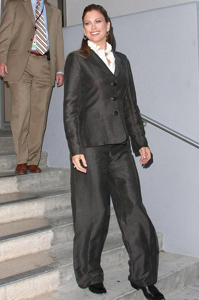 "Speaking of problematic pants, look at what former supermodel Kathy Ireland wore while out and about in LA. Yikes! Greg Tidwell/<a href=""http://www.pacificcoastnews.com/"" target=""new"">PacificCoastNews.com</a> - May 4, 2009"