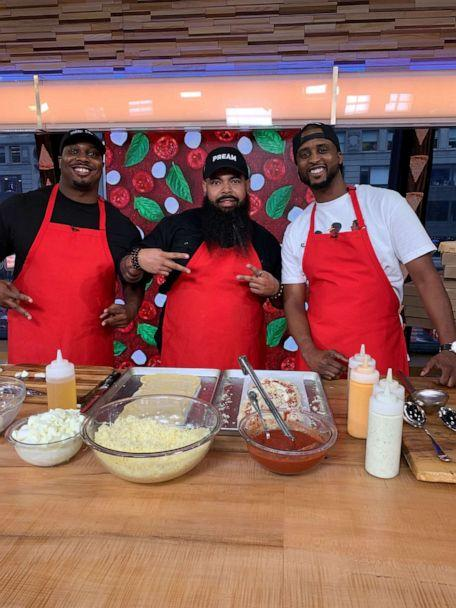 PHOTO: Clint Gray, EJ Reed and Derrick Moore from Slim and Husky's Pizza in Nashville. (ABC News)