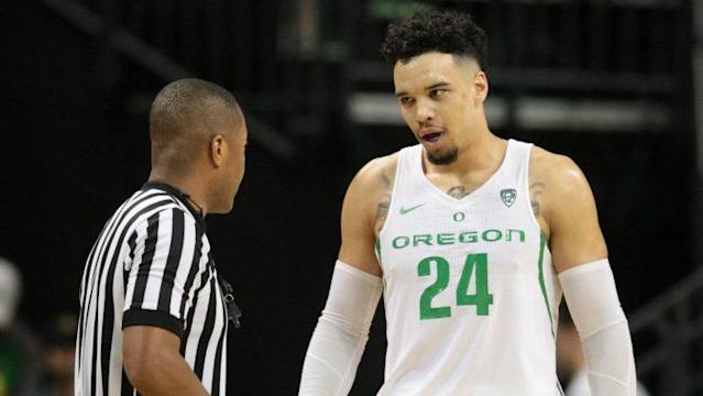 "Oregon's Dillon Brooks pulled another ""Grayson Allen"" during the Pac-12 Championship, throwing a rouge elbow to Allonzo Trier's midsection that stopped the game for a review. We've seen Brooks' antics before when he had one of the worst flops in history against Utah in January."
