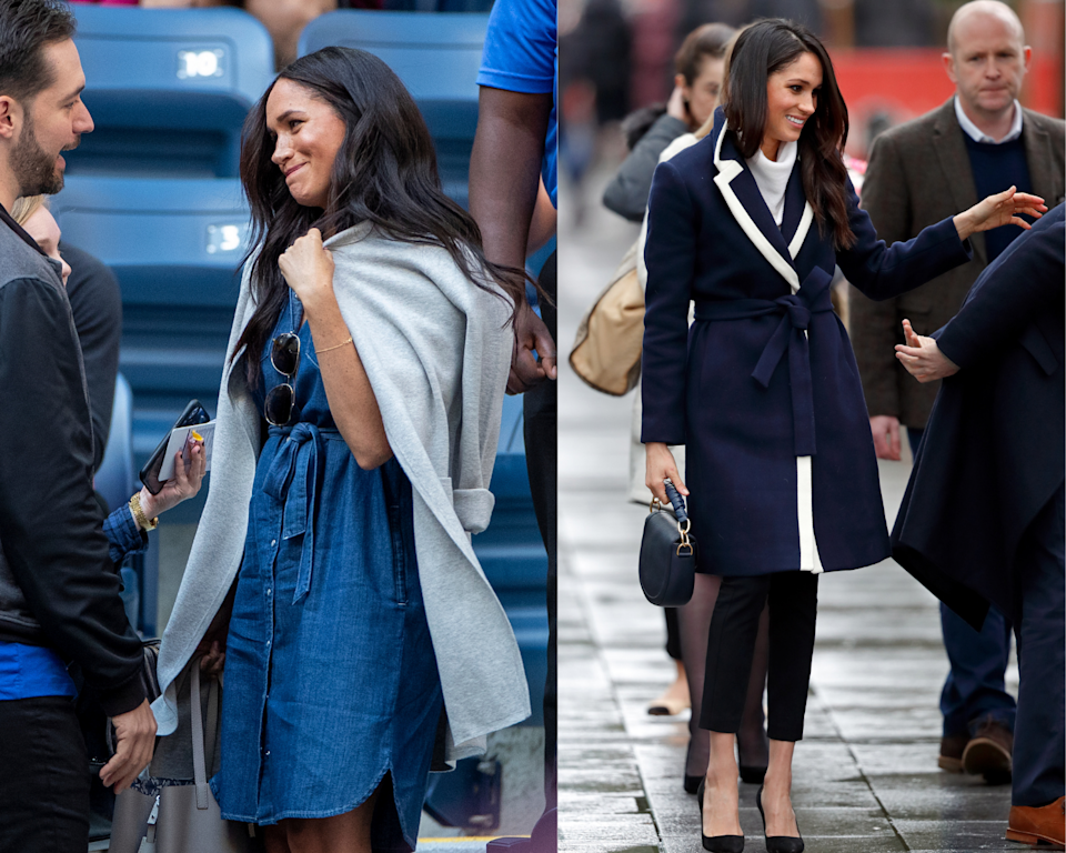 Meghan Markle in two J. Crew outfits