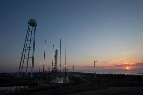Big Rocket Test Launching from Virginia Island Wednesday