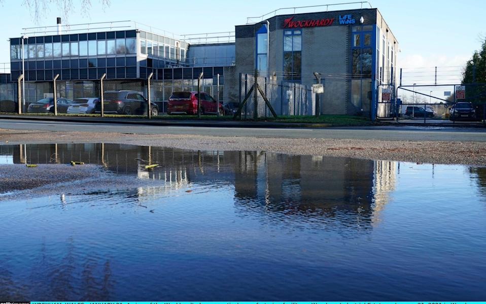 Wockhardt pharmaceutical manufacturing facility on Wrexham Industrial Estate - Christopher Furlong/Getty Images