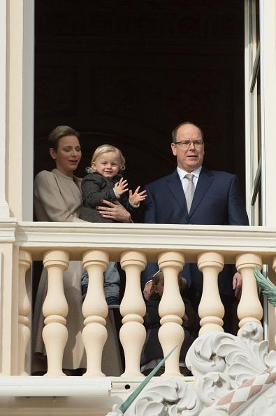 <p>MONACO – JANUARY 26: Prince Albert II of Monaco and Princess Charlene of Monaco leave the Cathedral of Monaco after a mass during the Sainte-Devote ceremony on January 26, 2017 in Monaco, Monaco. Sainte devote is the patron saint of The Principality Of Monaco and France's Mediterranean Corsica island. (Photo by Pierre Villard/TO-Monaco Pool/Getty Images)</p>