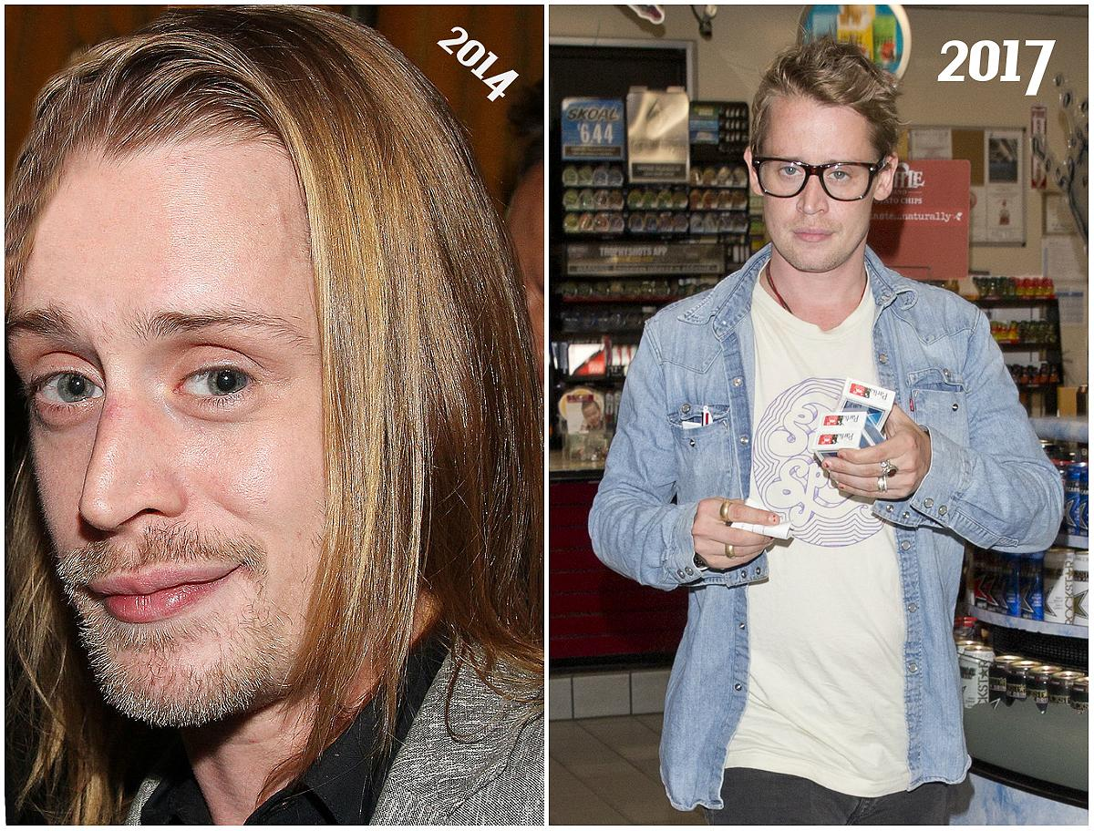 "<p>The former child star was also seen picking up cigarettes as a gas station on Sunset Blvd in West Hollywood on Monday — a tad less camera shy on this occasion, and we get a better look at Culkin's youthful features before he heads back to a car waiting outside. The ""Richie Rich"" star sat in the back of the vehicle with Song, the actress who played London Tipton on the ""Suite Life Of Zack and Cody,"" while fellow actor Seth Green sat in the front. Song and Culkin will star in the upcoming flick ""Changeland,"" a dramedy written and directed by Green. (Photos: L: Getty/2014/ R: Splash News/July 24, 2017) </p>"