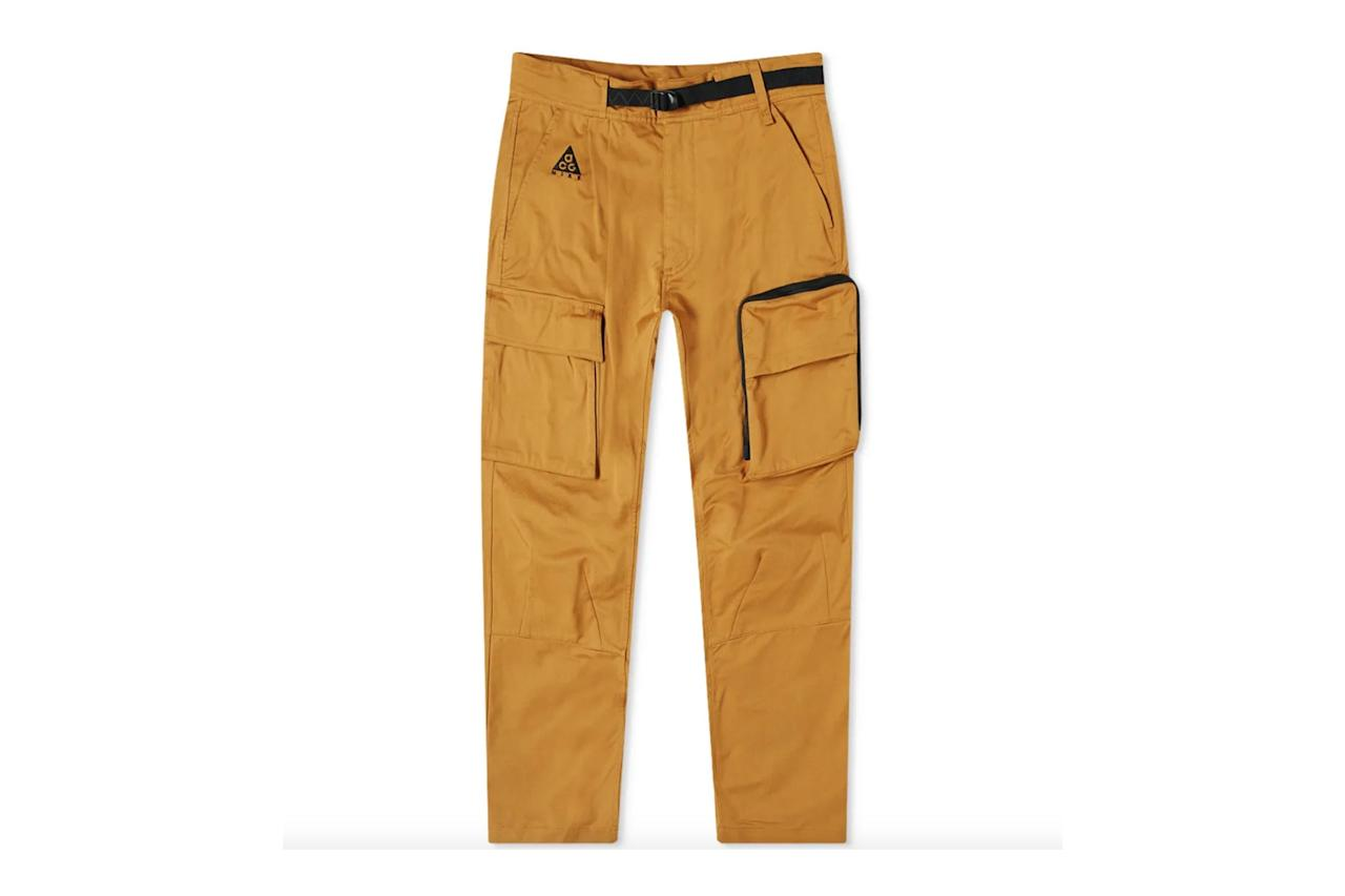 """$179, End Clothing. <a href=""""https://www.endclothing.com/us/nike-acg-cargo-pant-cd7646-790.html"""">Get it now!</a>"""