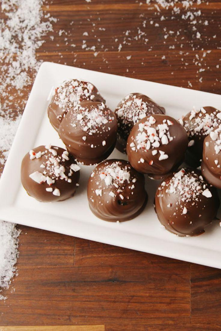 "<p>So simple, but SO good.</p><p>Get the recipe from <a href=""https://www.delish.com/cooking/recipe-ideas/a57050/peppermint-oreo-truffles-recipe/"" rel=""nofollow noopener"" target=""_blank"" data-ylk=""slk:Delish"" class=""link rapid-noclick-resp"">Delish</a>.</p>"