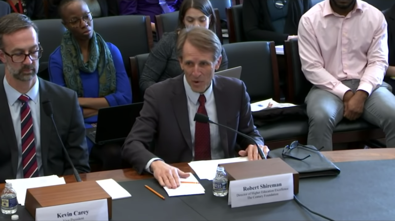 Robert Shireman speaking in Congress on March 12, 2019. (Screenshot: YouTube/The Departments of Labor, Health and Human Services, Education, and Related Agencies)