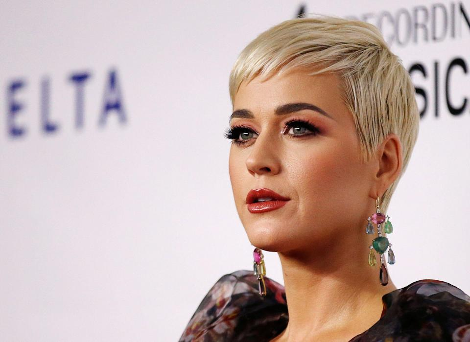 Singer Katy Perry attends a red carpet gala event honoring Dolly Parton as the MusiCares person of the year, ahead of the Grammy Awards, in Los Angeles, California, U.S. February 8, 2019. REUTERS/Mario Anzuoni