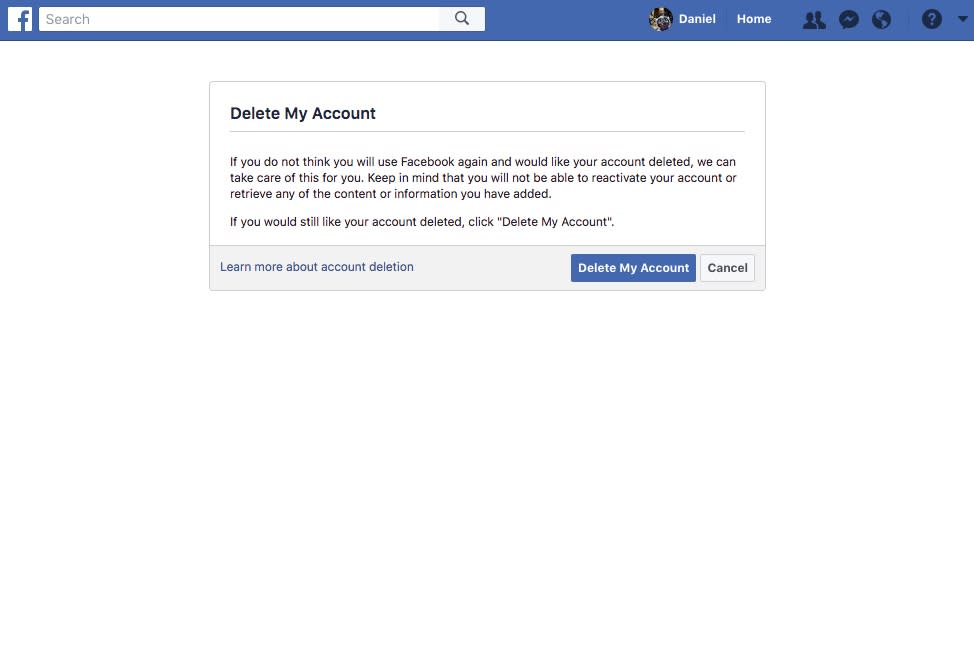 How to delete your facebook account video facebook seems to purposely make it hard to delete your account ccuart Gallery