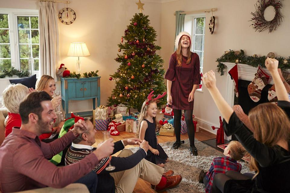 """<p>Stay in and have a family game night with all of your favorite board games, or try your hand at one of our favorite <a href=""""https://www.countryliving.com/life/g23477105/family-christmas-games/"""" rel=""""nofollow noopener"""" target=""""_blank"""" data-ylk=""""slk:family Christmas games"""" class=""""link rapid-noclick-resp"""">family Christmas games</a>. The winner gets to open the first gift on Christmas morning!</p><p><a class=""""link rapid-noclick-resp"""" href=""""https://www.amazon.com/s/ref=nb_sb_noss_2?url=search-alias%3Daps&field-keywords=christmas+board+game&tag=syn-yahoo-20&ascsubtag=%5Bartid%7C10050.g.25411840%5Bsrc%7Cyahoo-us"""" rel=""""nofollow noopener"""" target=""""_blank"""" data-ylk=""""slk:SHOP HOLIDAY GAMES"""">SHOP HOLIDAY GAMES</a></p>"""