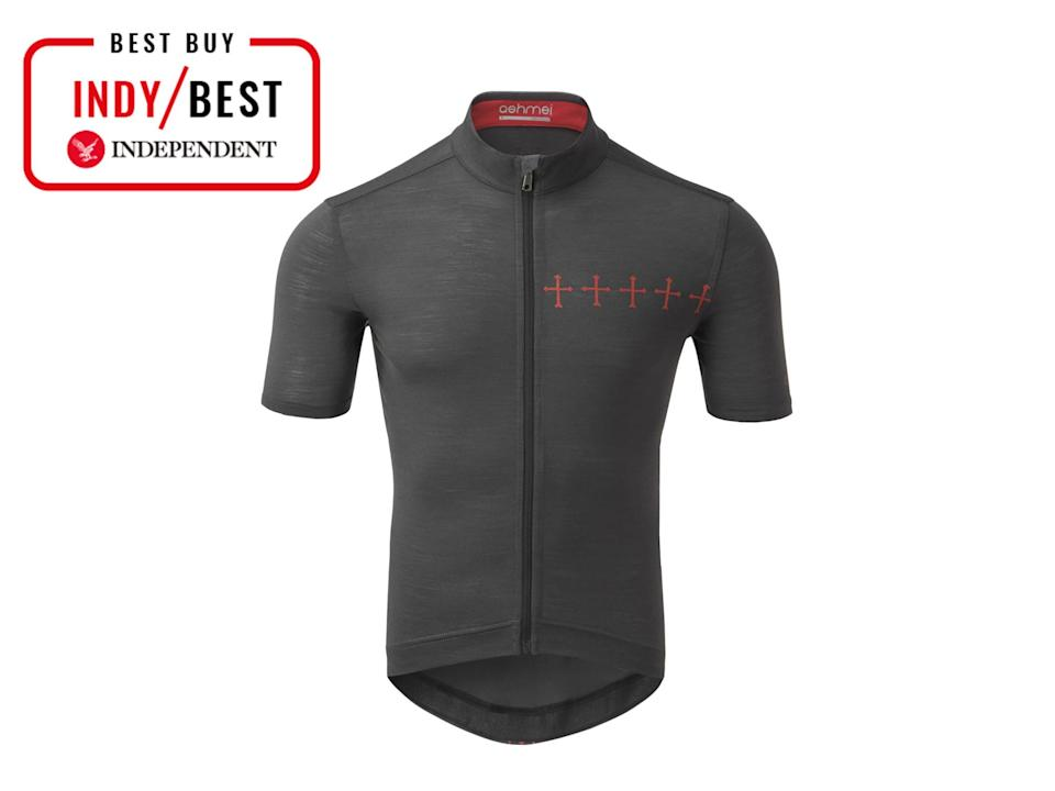 This merino wool cycling jersey not only will keep you cool during summer cycling, but itbreaks down in a landfill, unlike man-made fabrics