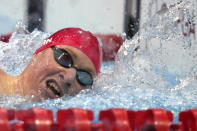Tom Dean of Britain swims in the final of the men's 200-meter freestyle at the 2020 Summer Olympics, Tuesday, July 27, 2021, in Tokyo, Japan. (AP Photo/Martin Meissner)