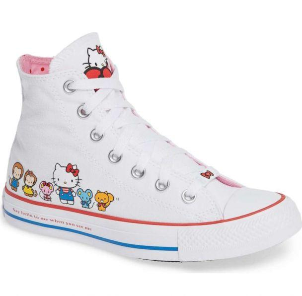 PHOTO: These Chuck Taylor All Star high top shoes feature Hello Kitty and friends and the iconic phrase 'Say hello to me when you see me.' (Nordstrom)