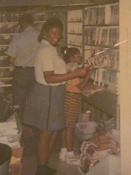 PHOTO: Stephanie Hayes-Bostic with her daughter Janei during her first years at work at the post office. (Stephanie Hayes-Bostic)