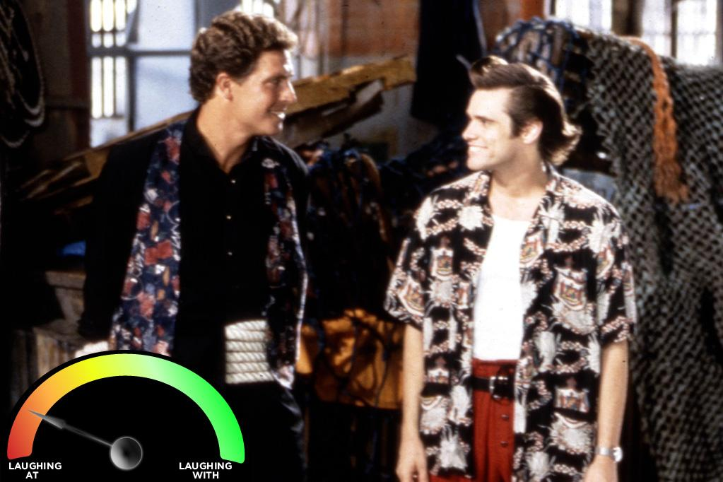 """<b>Dan Marino </b><br>""""<a href=""""http://movies.yahoo.com/movie/ace-ventura-pet-detective/"""">Ace Ventura: Pet Detective</a>"""" (1994)<br>There are three key reasons Marino sports such a low percentage: <br>1) His acting is so bad he can't even play himself convincingly. <br>2) He never won a Super Bowl. <br>3). Isotoner gloves."""