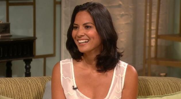 Olivia Munn stops by Access Hollywood Live on July 17, 2012 -- Access Hollywood