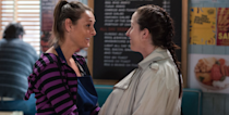 <p>Sonia reveals to Jane that she's been offered a job away from the Square, but admits that she doesn't want Tina to come too. When Sonia tells her girlfriend the news it gets awkward when Tina assumes she and Sylvie will leave with her. Will Sonia break Tina's heart?</p>