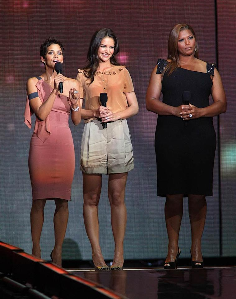 "Tom's wife (and the inspiration for all that couch jumping), Katie Holmes, also took the stage, along with Halle Berry and Queen Latifah. Barry Brecheisen/<a href=""http://www.wireimage.com"" target=""new"">WireImage.com</a> - May 17, 2011"
