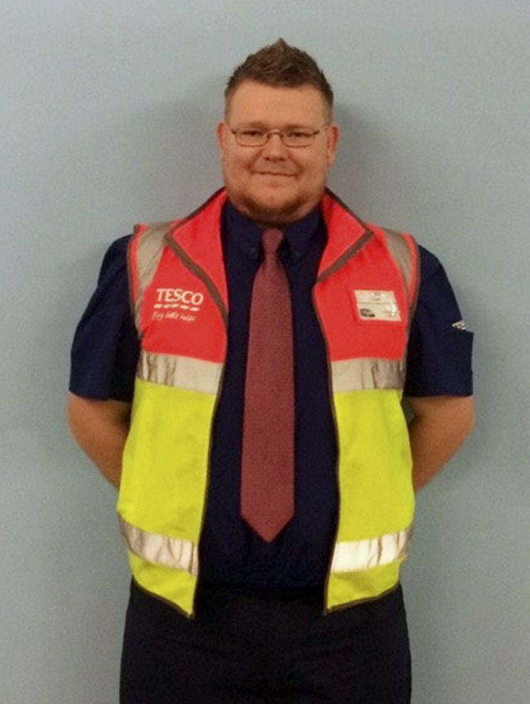 Tesco delivery driver Liam Mellor [SWNS]