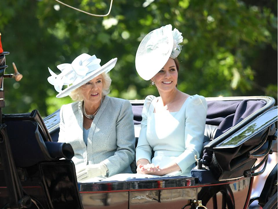 The Duchesses of Sussex and Cambridge, Meghan Markle and Kate Middleton, appeared together to celebrate Trooping the Color in London.