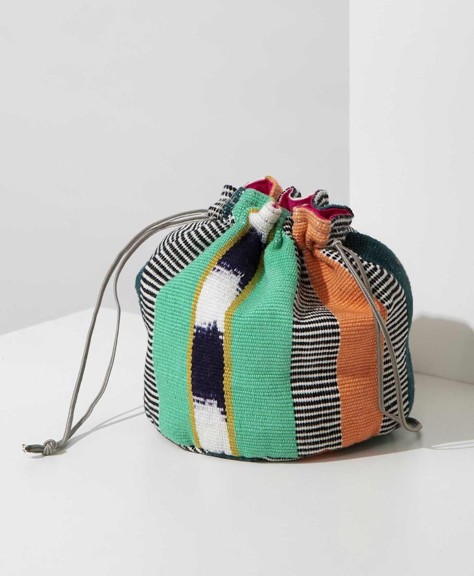 """<p><strong>Noonday Collection</strong></p><p>noondaycollection.com</p><p><strong>$32.00</strong></p><p><a href=""""https://www.noondaycollection.com/shop/laguna-jewelry-pouch/"""" rel=""""nofollow noopener"""" target=""""_blank"""" data-ylk=""""slk:Shop Now"""" class=""""link rapid-noclick-resp"""">Shop Now</a></p><p>If your mom travels a lot–just trust me, this'll change her life.</p>"""