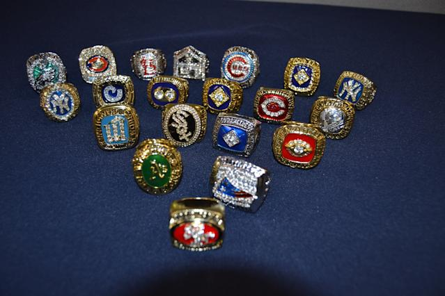 The fake championship rings were seized due to trademark infringement. (Photo via U.S. Customs and Border Patrol)