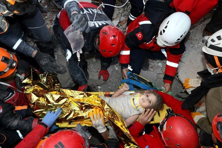 Rescuers, exhausted but determined, pulled out the three-year-old on their fourth day of round-the-clock work