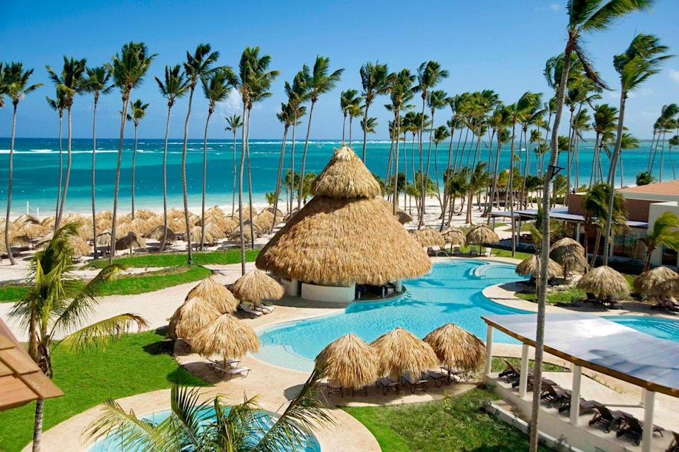 """<p><strong><a href=""""http://www.secretsresorts.com/royal-beach-punta-cana/honeymoon-anniversaries"""" rel=""""nofollow noopener"""" target=""""_blank"""" data-ylk=""""slk:Secrets Resort Royal Beach, Punta Cana, Dominican Republic"""" class=""""link rapid-noclick-resp"""">Secrets Resort Royal Beach, Punta Cana, Dominican Republic</a></strong><br>Every picture-perfect detail you can ever think of is offered in this honeymoon package, from breakfast in bed to a private dinner by the beach. A tension-release massage in the couples-only suite rounds out the romantic experience.</p><span class=""""copyright"""">Photo: Courtesy of Secrets Resort.</span>"""