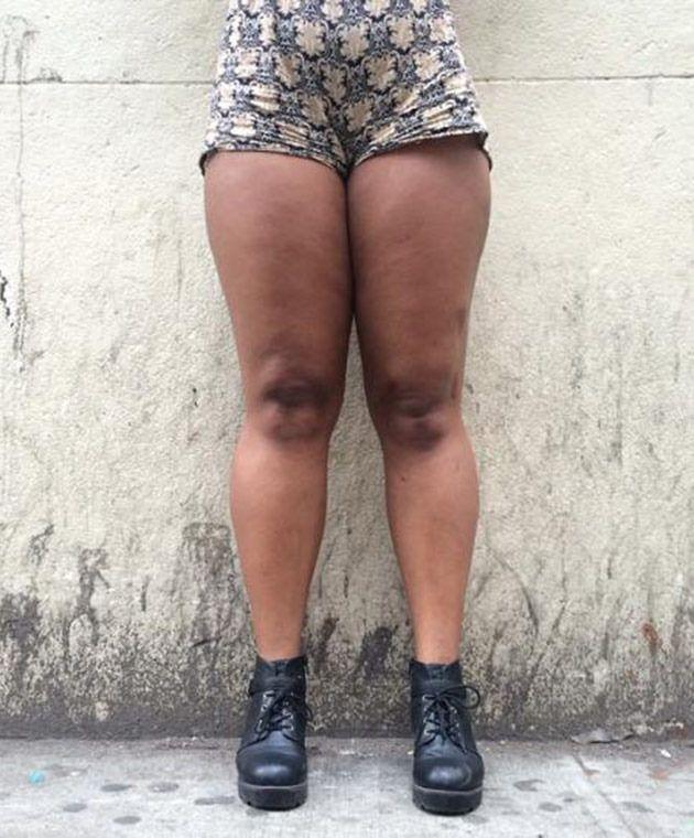 Legs don't have to have a thigh gap to be beautiful. Photo: Stacey Baker.