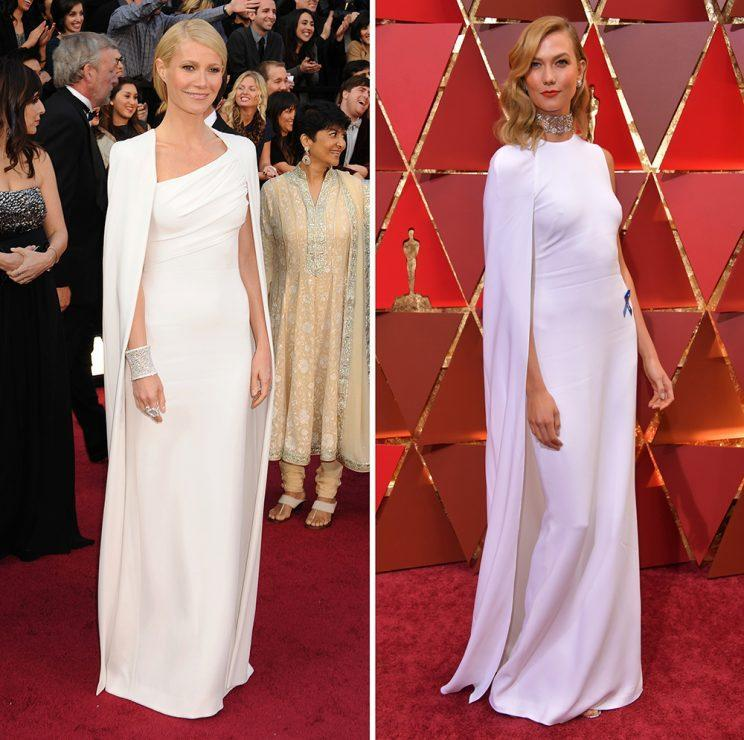 Gwyneth Paltrow and Karlie Kloss basically wore the same dress. (Photo: Getty Images)