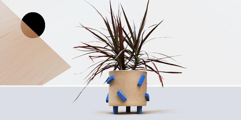 """We have yet to meet a hyper blue object we didn't like, so you know how we feel about this handcrafted stoneware planter. SHOP NOW: Electric Blue Dash Pot by Gabrielle Silverlight, 5.5""""w x 5.25""""h, $85, etsy.com"""