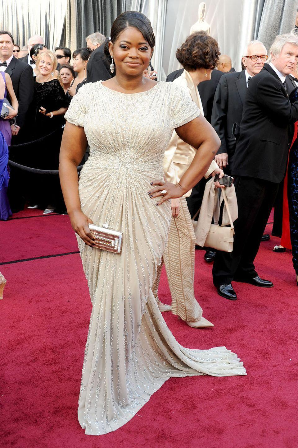 <p>Octavia Spencer sparkled in Tadashi Shoji when she accepted her Best Supporting Actress award for <em>The Help </em>in 2012. </p>