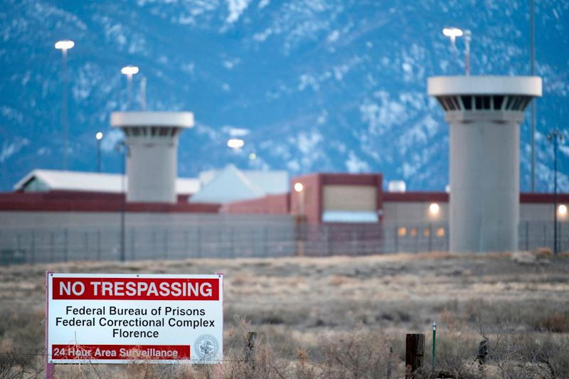 "This photo taken on February 13, 2019 shows a view of the United States Penitentiary Administrative Maximum Facility, also known as the ADX or ""Supermax"", in Florence, Colorado."