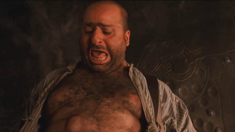 Omid Djalili meets a gruesome end in 'The Mummy'. (Credit: Universal)