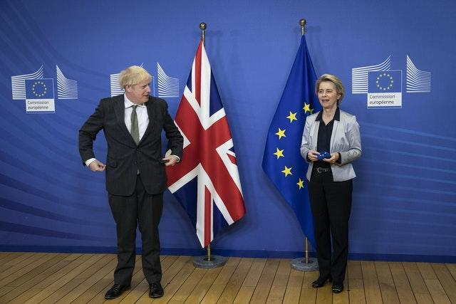 Boris Johnson with European Commission president Ursula von der Leyen